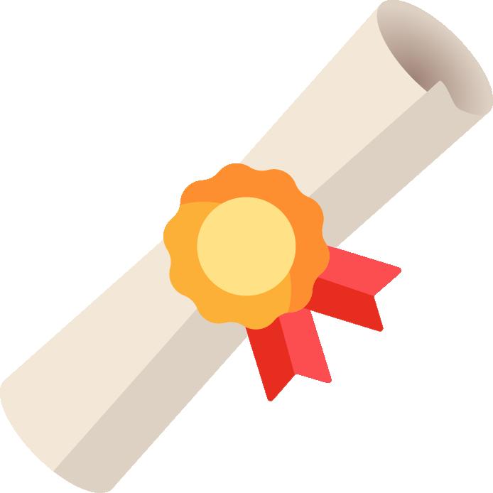 Certificado digital assinado, com código de autenticidade para verificação, validade nacional e download imediato ao término do curso